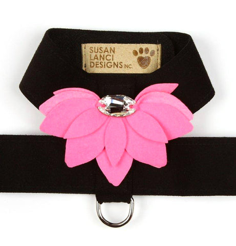 Black w Perfect Pink - Lily Tinkie Dog Harness by Susan Lanci