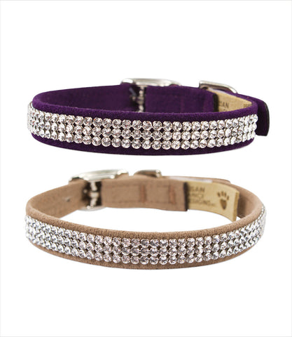 Gilmore 3 Row Crystal Dog Collar