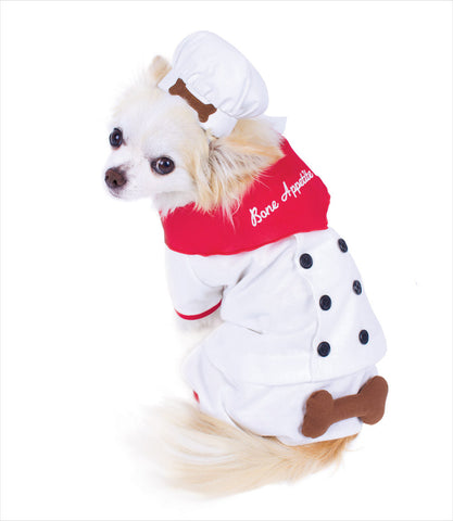 Bone Appetite Chef Dog Costume