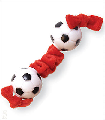 Dog Tug Toy with Soccer Ball