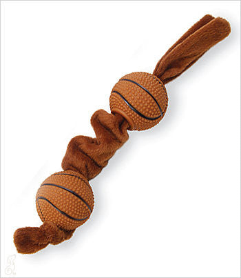 Dog Tug Toy with Basketballs