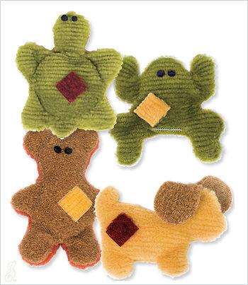 small dog bear, turtle, frog and dog toys