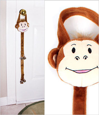 Monkey Potty Training Bells on Door