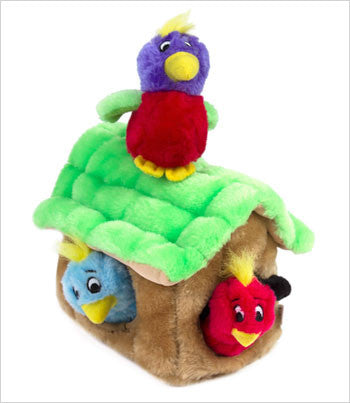 Hide a Bird Plush Dog Puzzle Toy