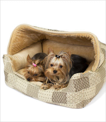Hooded Lounge Dog Bed