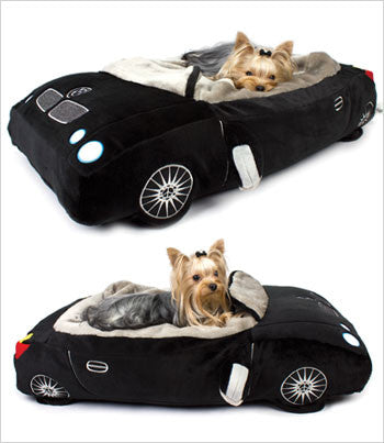 Views of DMW car dog bed