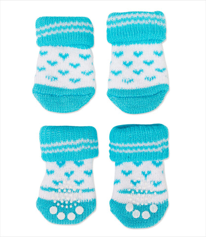 Blue Heart Dog Socks - Puppia