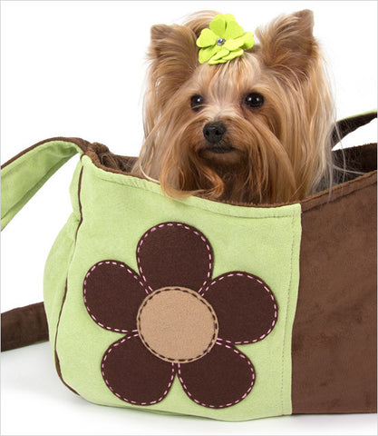 Boho Snuggle Sack with Yorkie