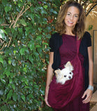 Cuddle Dog Carrier - Burgundy with Dog