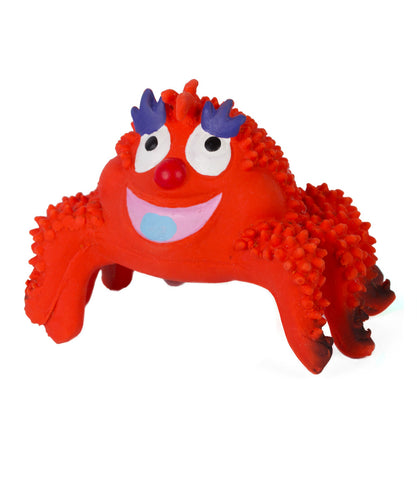 Rascal Crab Latex Dog Toy
