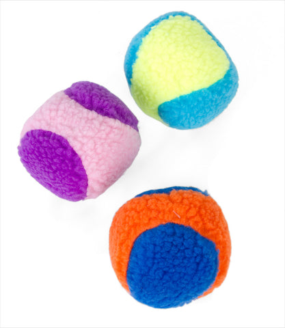 Rascals Fleece Ball Squeak Dog Toys