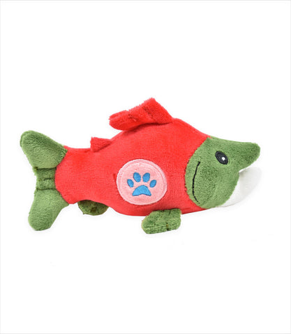 Salmon Li'l Pals Paw Plush Toy for small dogs
