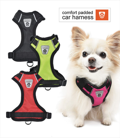 Padded Car Vest Dog Harness V2 - Colors