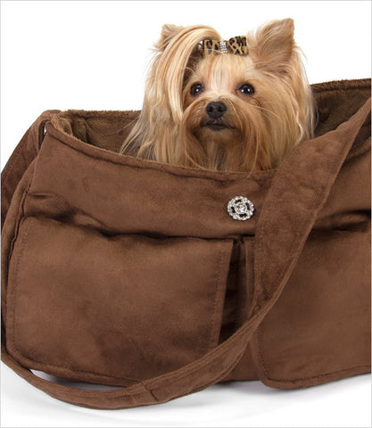 Chocolate Snuggle Sack Dog Carrier