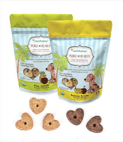 CocoTherapy Pure Hearts Healthy Organic Dog Treats