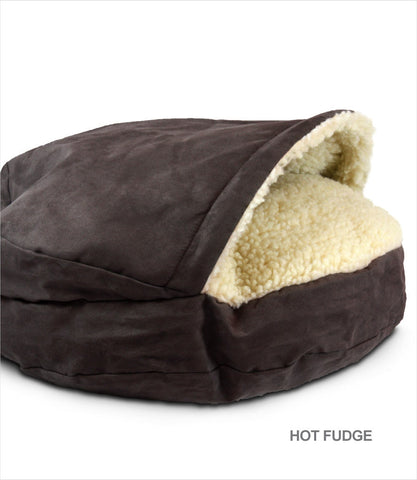 Cozy Cave Dog Bed - XLarge Hot Fudge