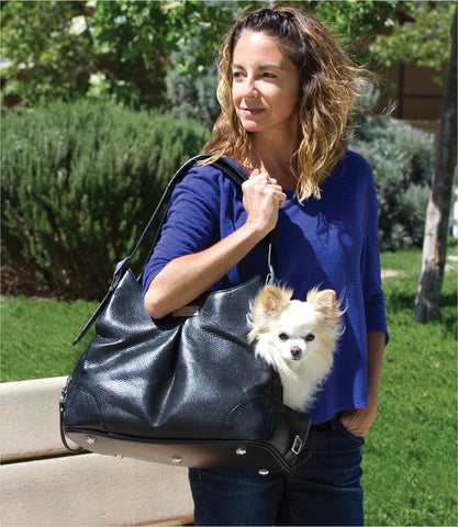 Sadie Mia Michele Dog Carrier with Chihuahua Inside