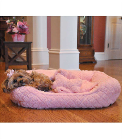 Pink Ultra Soft Bed for small dogs