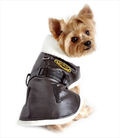 Doggie Design Bomber Harness Jacket + Leash - Yorkie