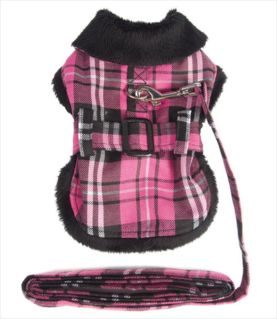 Dog Jacket - Doggie Design Pink Plaid