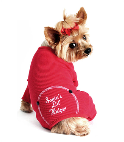 Santa's Little Helper PJ - Yorkie