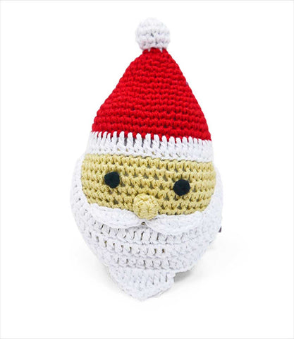 Santa Claus Crochet Small Dog Toy