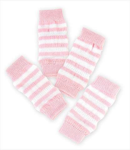 Leg Warmers For Dogs - Pink and White