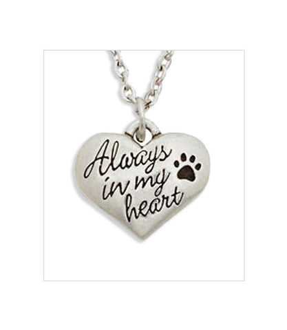 Dog Memorial Necklace - Always in My Heart