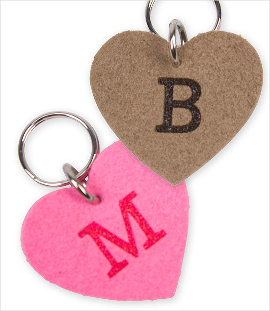 Soft Dog Charm, Tag with Initial