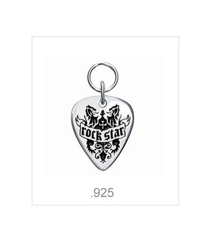 Rock Star dog ID tag .925