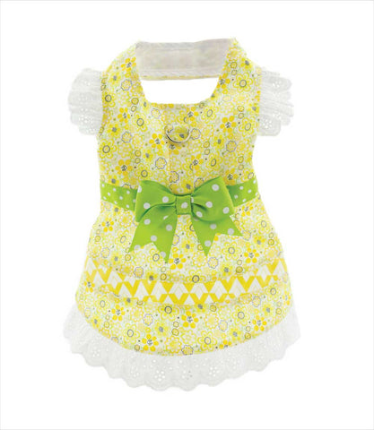 Yorkie in Dress - Emily Floral and Lace