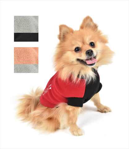 Dog in Red and Black Highline Fleece Coat