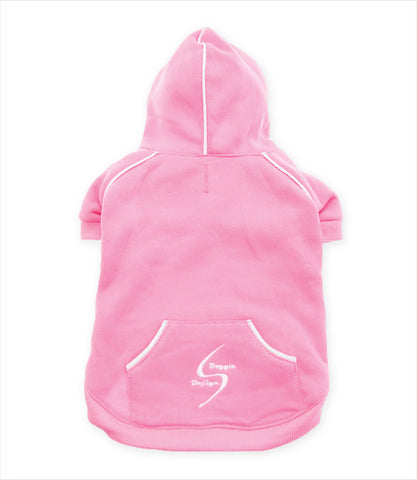 Carnation Pink Sport Hoodie by Doggie Design