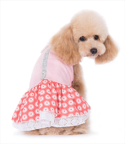 Flower Bling Dog Dress by Dogo