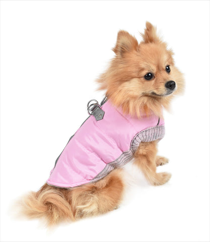 Pink Harness Dog Coat