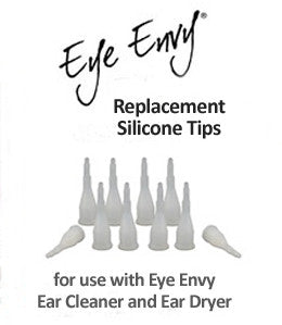 10-pack silicone tips for Ear Cleaner or Ear Dryer applicators