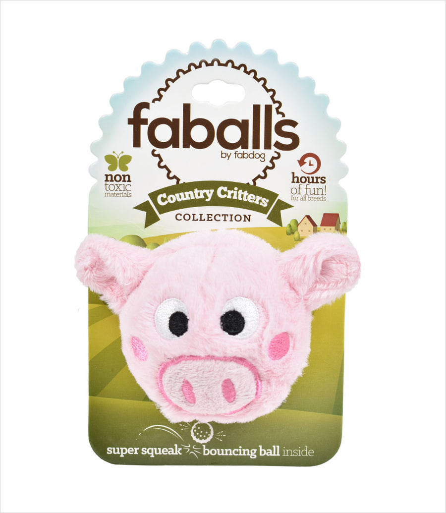 Pig Faball Dog Squeak Toy