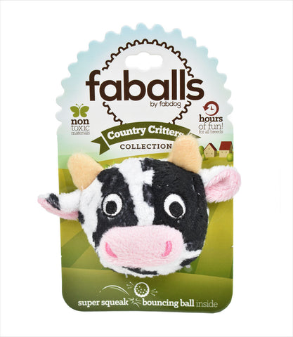 Cow faball dog toy
