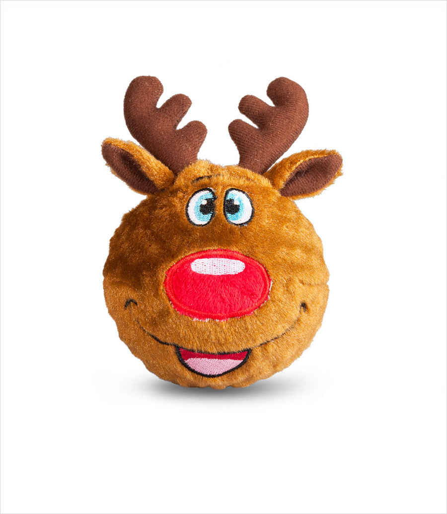 Reindeer Faball Dog Squeak Toy