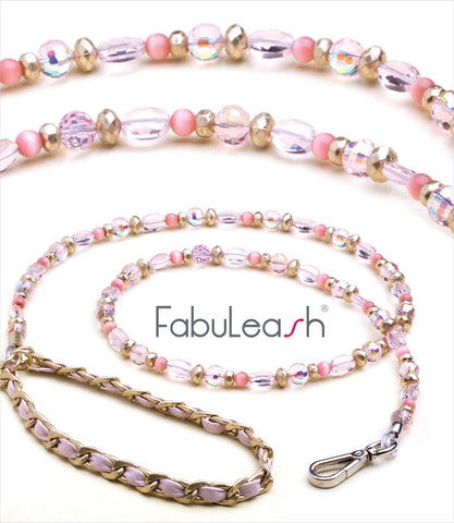Fabuleash Dog Leash Pink 5th Avenue
