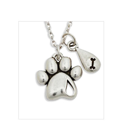 Pewter Dog Memorial Necklace - Forever Missed