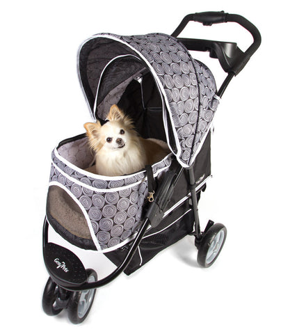 Promenade pet stroller, black, front view
