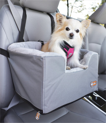 Hangin' Bucket Booster Dog Car Seat in Gray