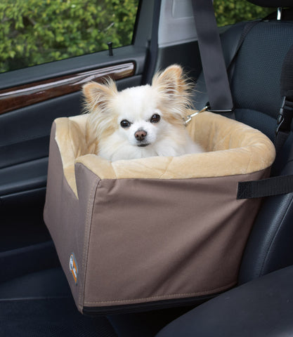 Hangin' Bucket Booster Dog Car Seat in Tan