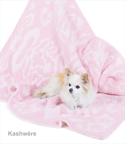 Kashwere Pink and White Damask Throw Blanket