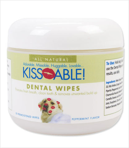 Kissable Dog Dental Wipes
