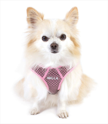 Personalized SPORT Wrap Dog Harness - Pink