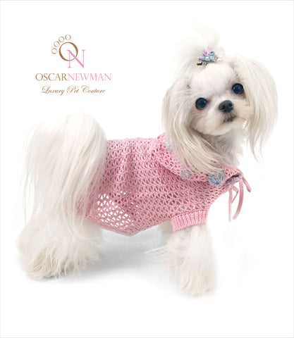 Pink small dog hoodie by Oscar Newman