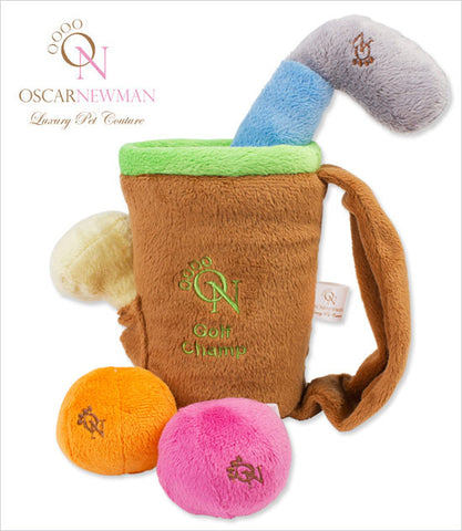 Oscar Newman Dog Golf Toy Set