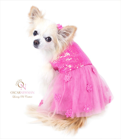 Oscar-Newman-Pink-Hotter-Than-You-Dog-Dress